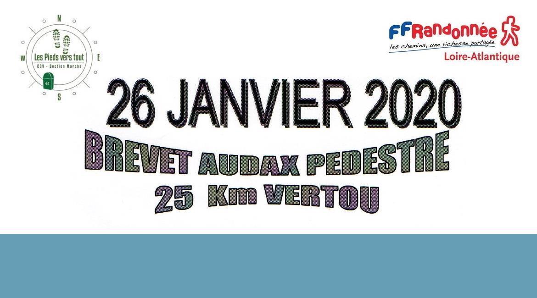 VERTOU : Brevet Audax Pédestre 25 km