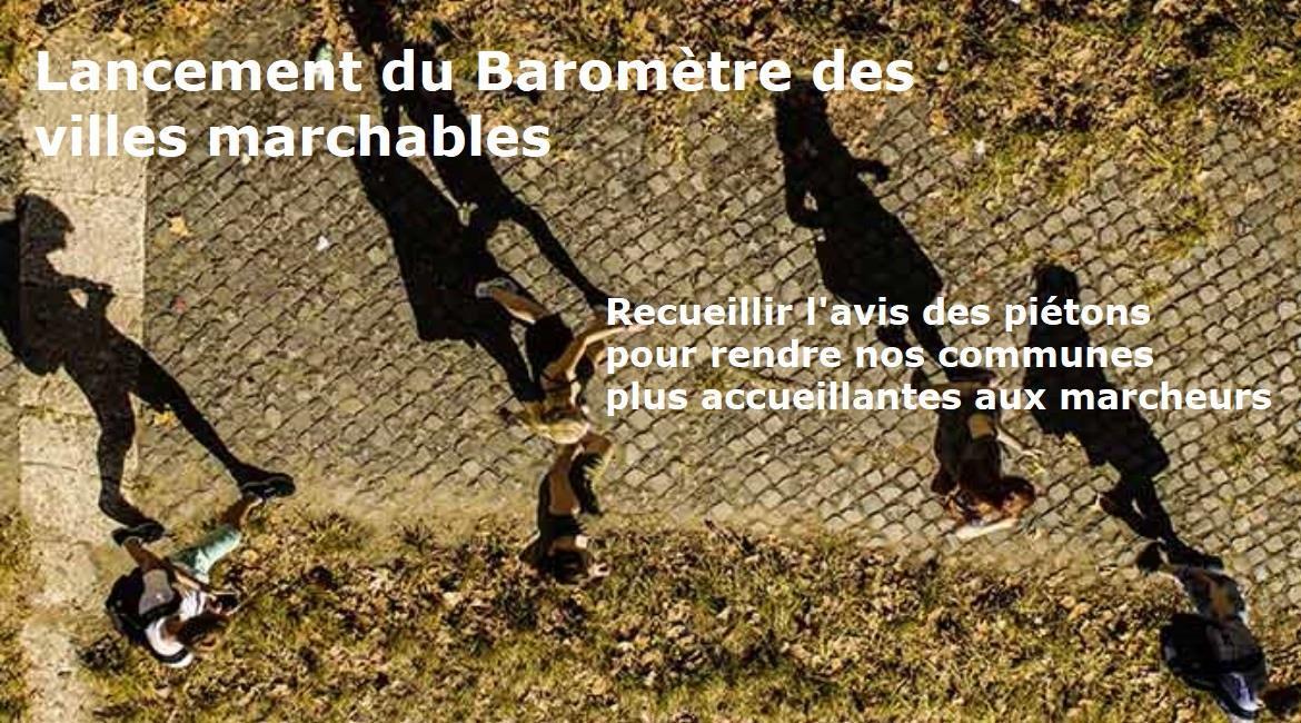 """OPÉRATION  """"Baromètre des villes marchables"""""""